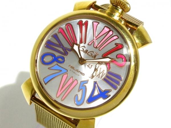 GAGA MILANO(ガガミラノ) 腕時計 マヌアーレ46 - メンズ シルバー