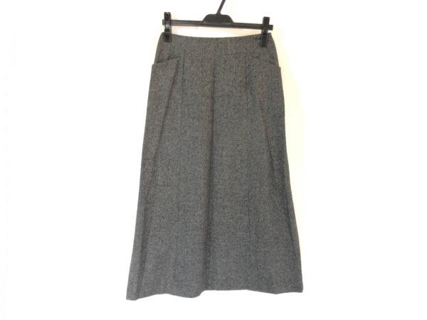 マーガレットハウエル ロングスカート サイズ2 M レディース グレー×黒
