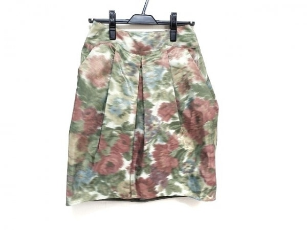 アルマーニコレッツォーニ スカート サイズ38 S レディース美品  花柄