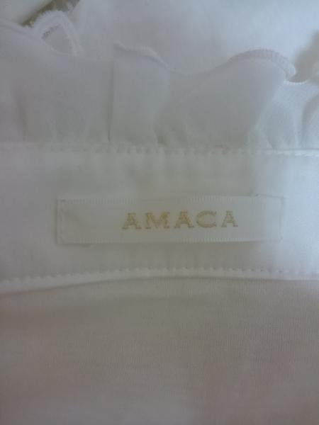 AMACA(アマカ) 長袖カットソー レディース 白 フリル/レース