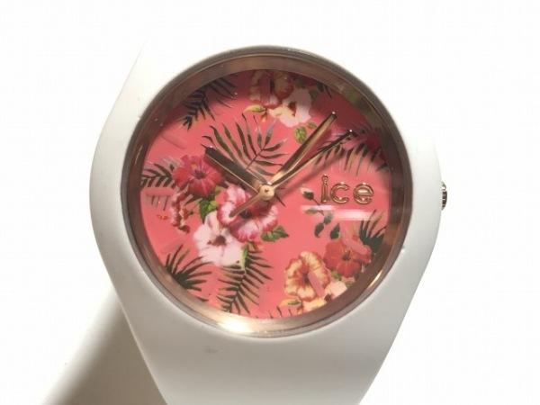 アイスウォッチ 腕時計美品  ICE.FL.LUN.U.S.15 レディース ラバーベルト/花柄