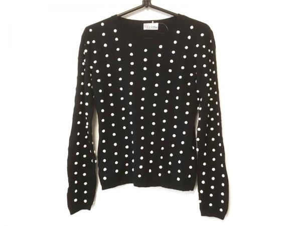R.E.D VALENTINO(バレンチノ) 長袖セーター サイズXS レディース 黒×白 ドット
