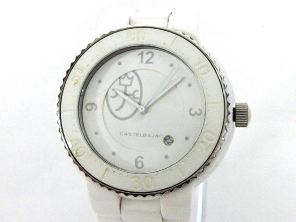 Castelbajac(カステルバジャック) 腕時計美品  7911-9901 ボーイズ 白