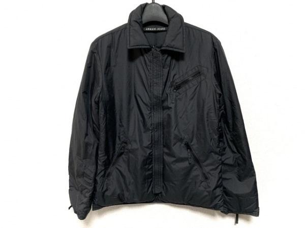 アルマーニジーンズ ダウンジャケット サイズ36 S メンズ 黒 リバーシブル/冬物