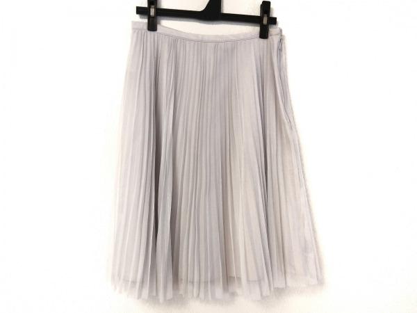 ジユウク スカート サイズ36 S レディース ライトグレー シースルー/プリーツ