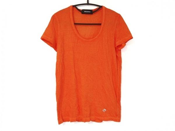 DSQUARED2(ディースクエアード) 半袖Tシャツ サイズS レディース オレンジ Vネック