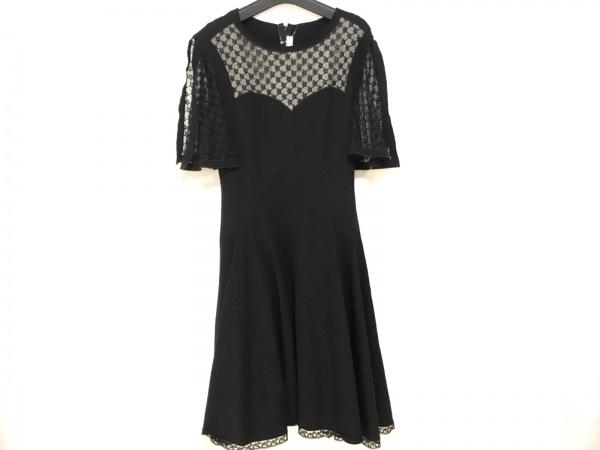 アレクシスマビーユ ドレス サイズ36 S レディース美品  黒×ベージュ レース