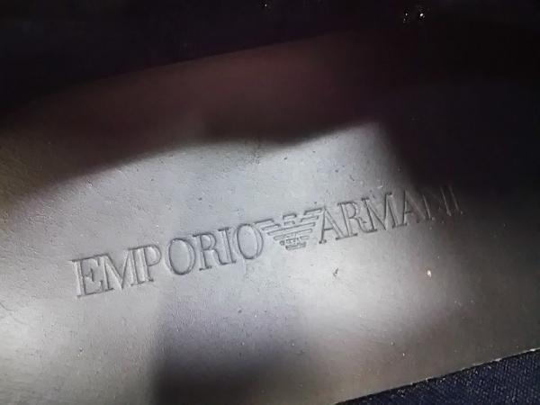 EMPORIOARMANI(エンポリオアルマーニ) スニーカー 7 メンズ ダークネイビー レザー