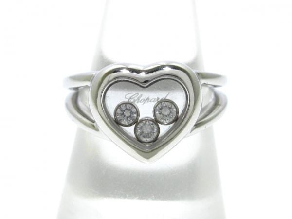 Chopard(ショパール) リング美品  ハッピーダイヤ 82/4611 K18WG×ダイヤモンド