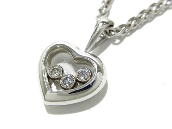 Chopard(ショパール) ネックレス美品  ハッピーダイヤ 79/4611 K18WG×ダイヤモンド