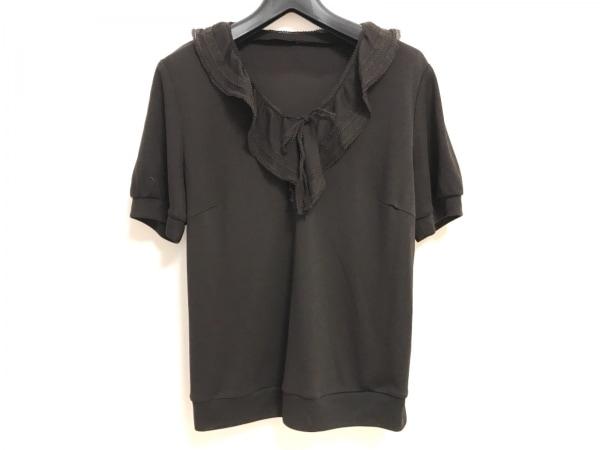ROCHAS(ロシャス) 半袖カットソー サイズ9 M レディース ダークブラウン リボン