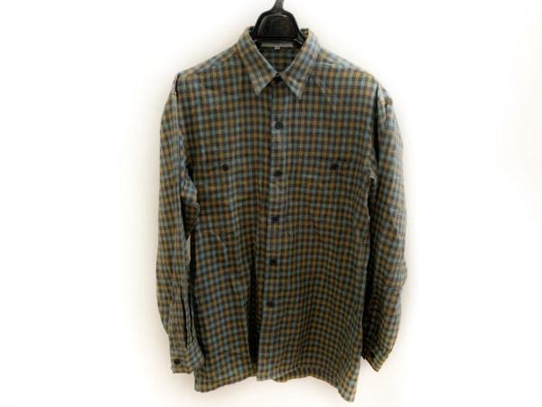 ランバン 長袖シャツ サイズ46 L メンズ美品  ライトグリーン×パープル×オレンジ