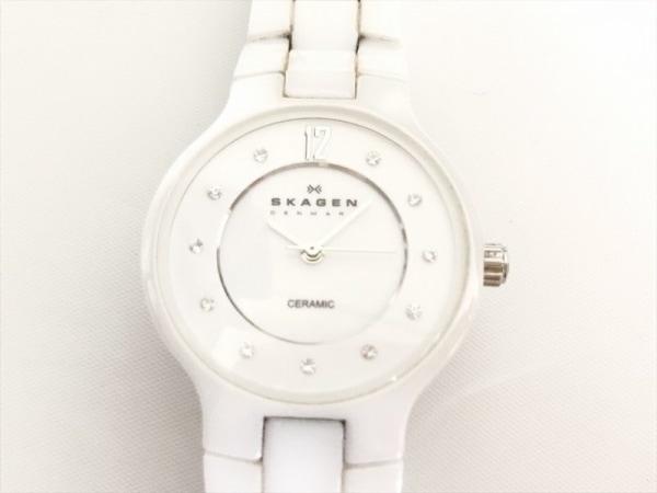 SKAGEN(スカーゲン) 腕時計 572SSXWC レディース ラインストーン 白