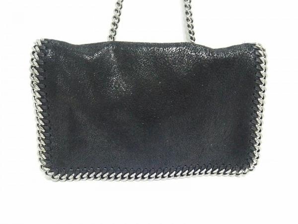 ステラマッカートニー ショルダーバッグ美品  黒×シルバー ミニサイズ