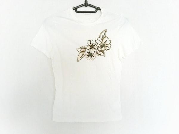 バレンチノローマ 半袖Tシャツ サイズ40 M レディース 白×グリーン×マルチ
