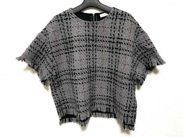 ADORE(アドーア) 半袖カットソー サイズ38 M レディース グレー×黒×マルチ