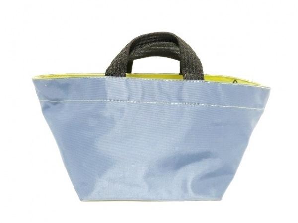Herve Chapelier(エルベシャプリエ) ハンドバッグ ブルー×ライトグリーン ナイロン