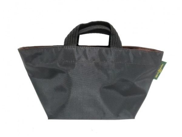 Herve Chapelier(エルベシャプリエ) ハンドバッグ 黒×ブラウン ナイロン