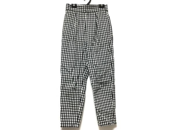 NOLLEY'S(ノーリーズ) パンツ サイズ34 S レディース 黒×白 チェック柄