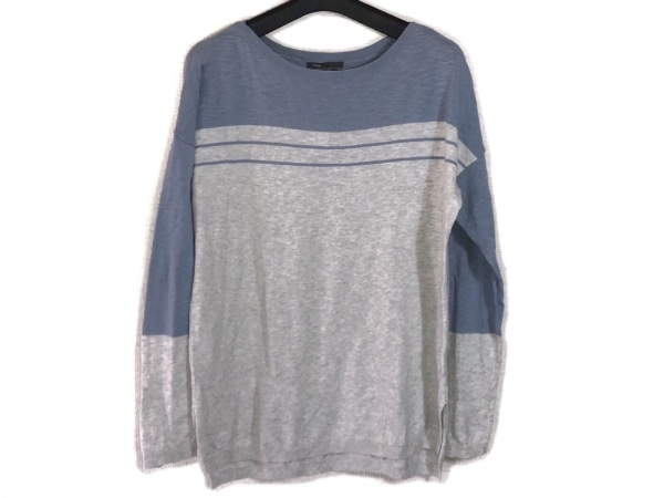 VINCE(ヴィンス) 長袖セーター サイズXS レディース ライトグレー×ライトブルー