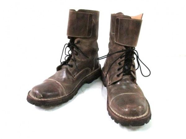 around the shoes(アラウンドザシューズ) ショートブーツ 41 メンズ ブラウン レザー