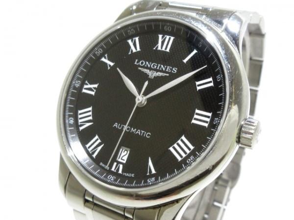LONGINES(ロンジン) 腕時計 マスターコレクション L2.628.4 メンズ SS/裏スケ 黒