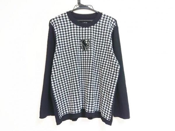 バレンザスポーツ 長袖セーター サイズ46 XL レディース 黒×白 ラインストーン
