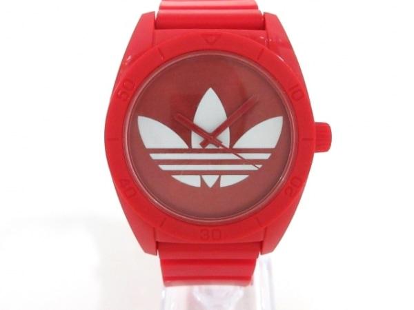 adidas(アディダス) 腕時計 サンティアゴ ADH2655 メンズ レッド×白