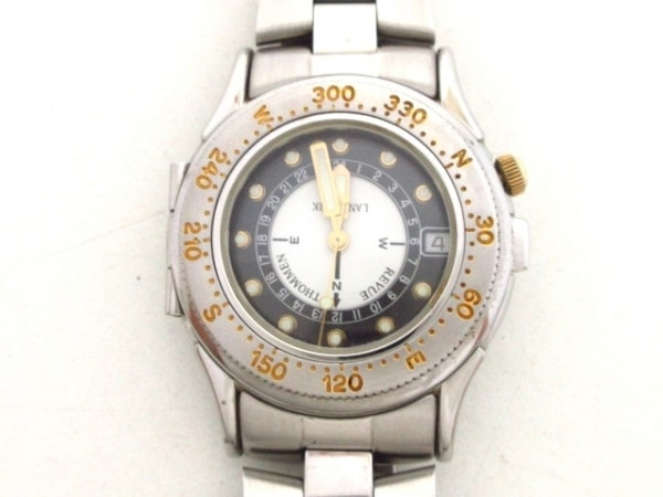 REVUE THOMMEN(レビュートーメン) 腕時計美品  ランドマーク 5811001 メンズ 黒×白