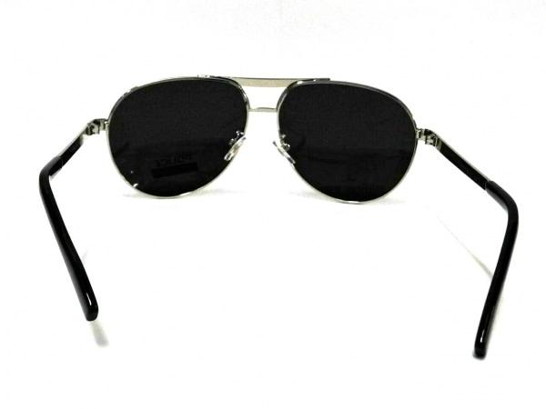 POLICE(ポリス) サングラス美品  S8480G 黒×シルバー プラスチック×金属素材