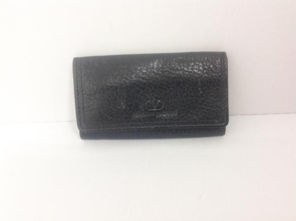 VALENTINOGARAVANI(バレンチノガラバーニ) キーケース 黒 4連フック レザー