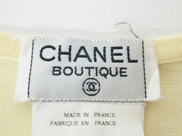 CHANEL(シャネル) ノースリーブセーター サイズ40 M レディース イエロー