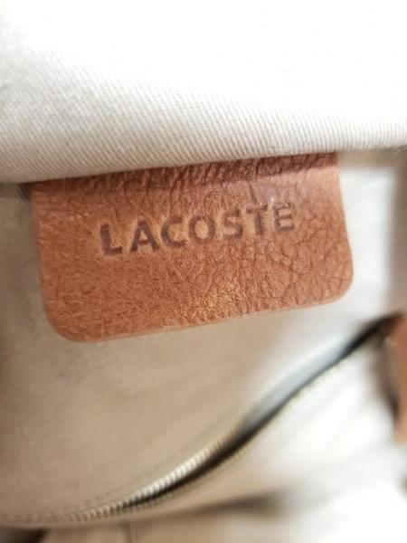 Lacoste(ラコステ) ハンドバッグ ブラウン レザー