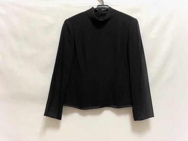 アクアスキュータム 長袖カットソー サイズ9 M レディース美品  黒 肩パッド