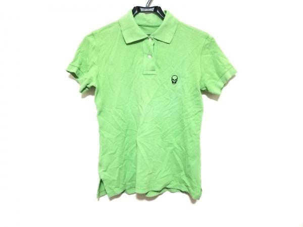 ルシアンペラフィネ 半袖ポロシャツ サイズXS レディース美品  ライトグリーン×黒