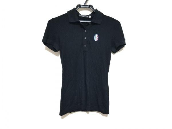 ドルチェアンドガッバーナ 半袖ポロシャツ サイズ38 S レディース美品  黒