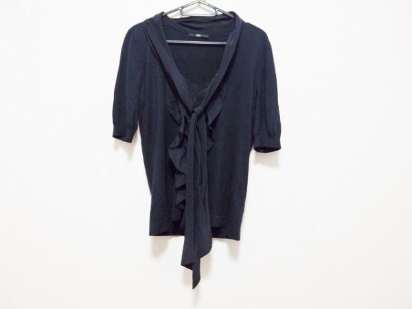 HUGOBOSS(ヒューゴボス) 半袖セーター サイズM レディース ダークネイビー リボン
