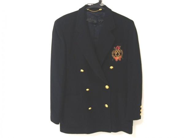 エスカーダ ジャケット レディース美品  黒×ゴールド×マルチ ダブル/肩パッド