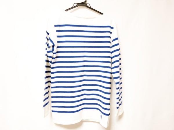 ORCIVAL(オーシバル) 長袖Tシャツ サイズ3 L メンズ新品同様  白×ブルー ボーダー