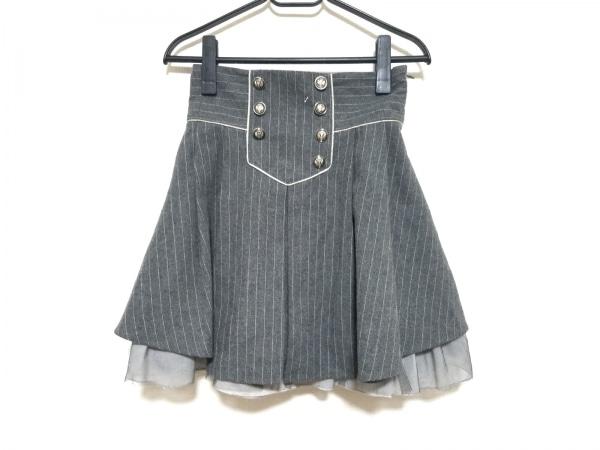 シークレットハニー スカート サイズ2 M レディース美品  ダークグレー×グレー
