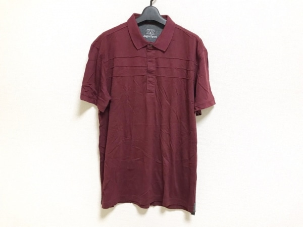 Zegna Sport(ゼニア) 半袖ポロシャツ メンズ美品  ボルドー