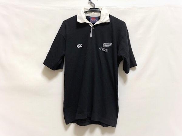 カンタベリーオブニュージーランド 半袖ポロシャツ サイズ38 M メンズ 黒×白