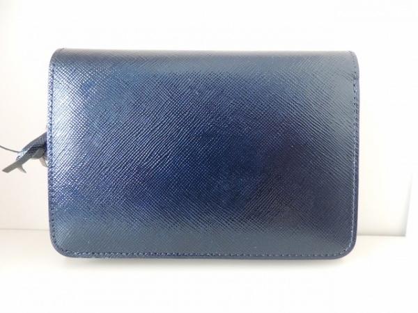 CYPRIS(キプリス) 2つ折り財布美品  ネイビー コーティングキャンバス