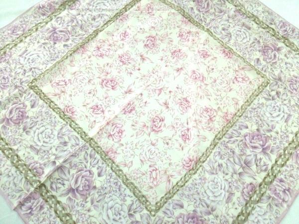 NINARICCI(ニナリッチ) スカーフ美品  パープル×グリーン×白 花柄