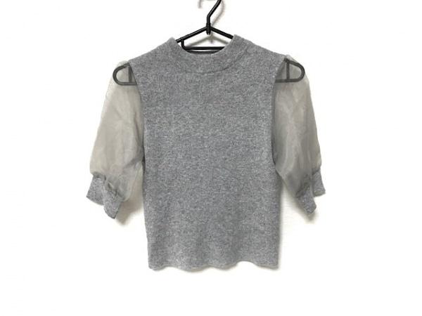 snidel(スナイデル) 半袖セーター サイズF レディース美品  グレー レース