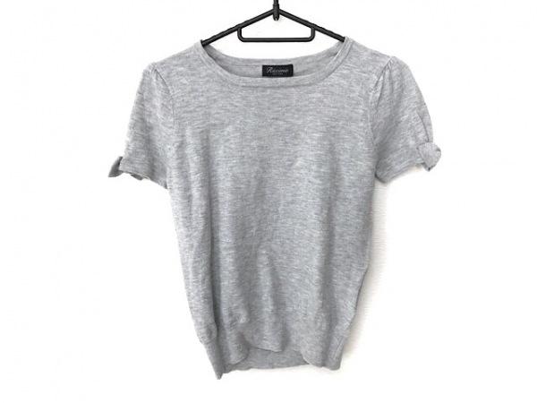 リッチミーニューヨーク 半袖セーター サイズM レディース美品  ライトグレー リボン