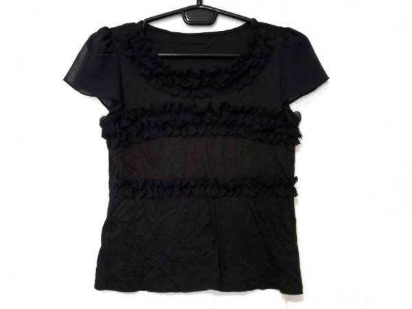 パーリーゲイツ 長袖セーター サイズ0 XS レディース新品同様  白×黒 ボーダー