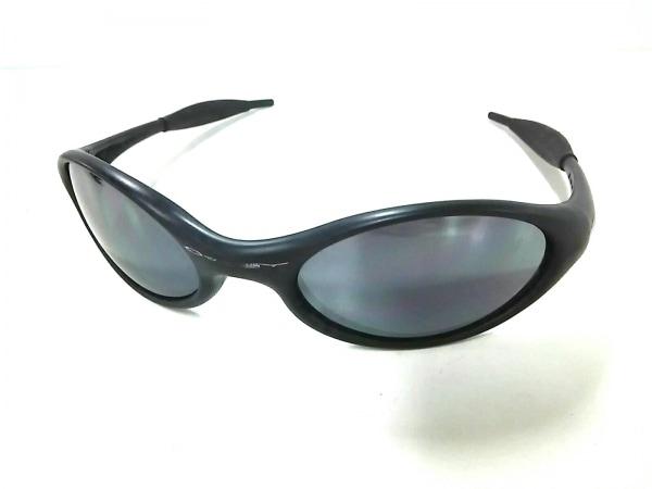 オークリー サングラス美品  JACKET - ダークネイビー×黒 プラスチック×ラバー