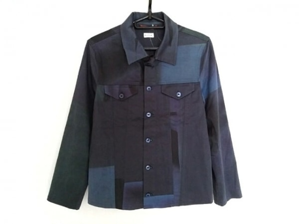 PaulSmith(ポールスミス) 長袖シャツ サイズM メンズ ネイビー×グリーン