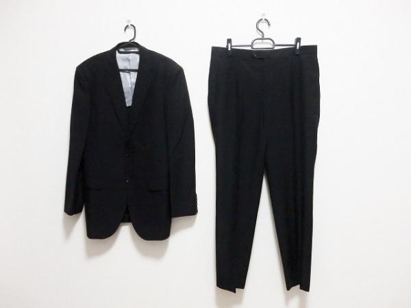 ジュンコシマダ シングルスーツ サイズAB7 メンズ 黒 肩パッド/ネーム刺繍